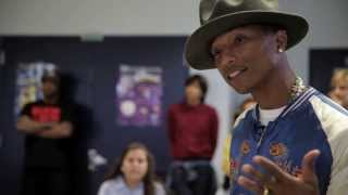 Pharrell Surprises Schoolchildren - HAPPY DAY