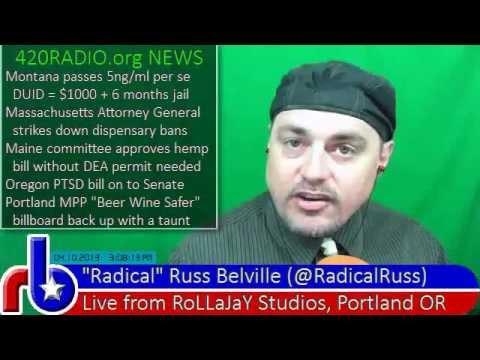 420RADIO News for Wednesday, April 10, 2013