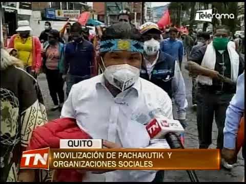 Movilización de Pachakutik y organizaciones sociales - marcha