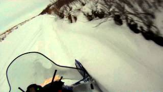 4. Yamaha Phazer GT on trail and a bit of powder