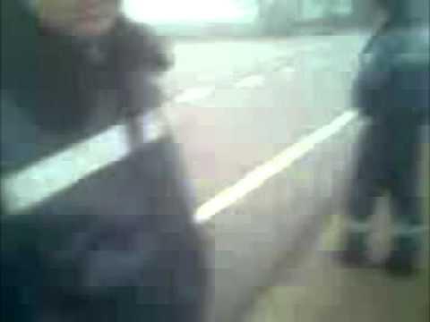 Контуженый ГАИшник напал на ДК. Буськ 16.12.11