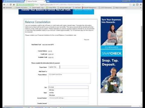 How to do a Credit Card Balance Transfer in Online Banking