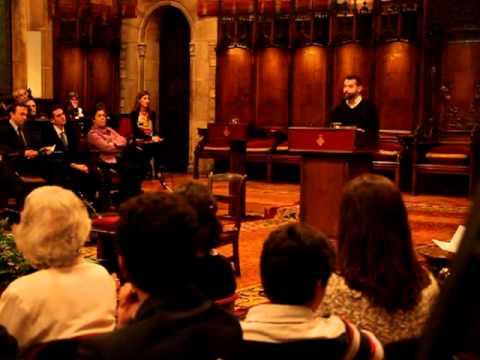 Paraules de Xavier Melloni durant l'homenatge a Raimon Panikkar a l'Ajuntament de Barcelona