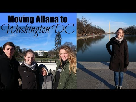MOVING ALLANA TO DC // VLOG