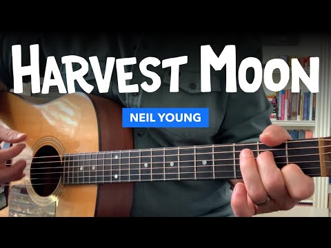 "🎸 ""Harvest Moon"" guitar lesson w/ chords & tabs (Neil Young)"
