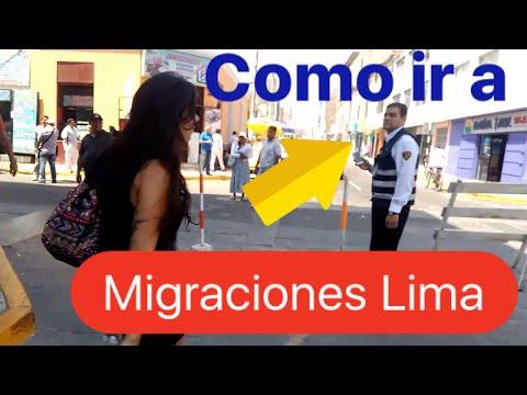 Como llegar a La Oficina de Migraciones en Lima ** Sacar Carné de Extranjería en Lima