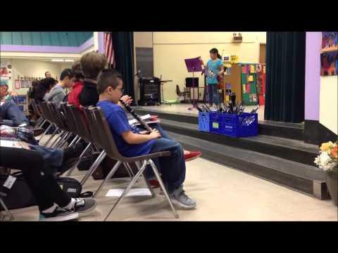 music partners - Recital at Bailey Gatzert Elementary.