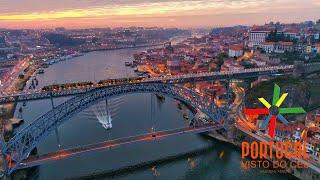 Ribeira do Porto e Gaia ao anoitecer