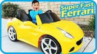 Unboxing New Ferrari Battery Powered Ride On Super Fast Car 12V Power Wheels Test Drive, TigerBox HD