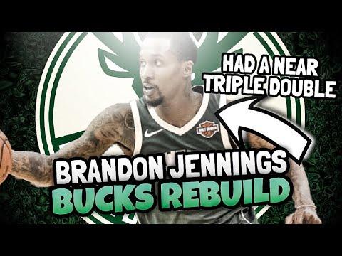 PRIME BRANDON JENNINGS BUCKS REBUILD! NBA 2K18 MY LEAGUE!