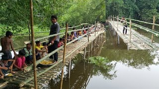 Video Build Bamboo Bridge For Villagers To Cross Sub River - Chicken Hodgepodge Cooking To Feed Builders MP3, 3GP, MP4, WEBM, AVI, FLV Juli 2018