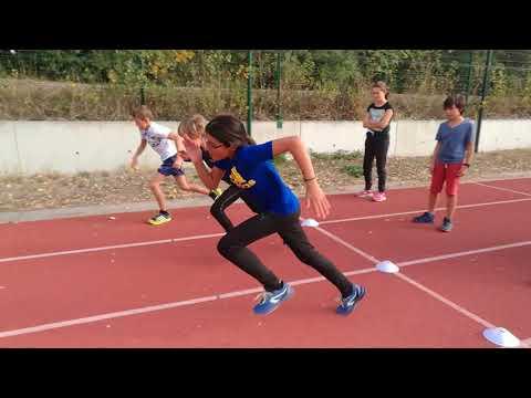 Apprentissage du sprint avec Matthieu