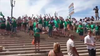 Ostre starcie polskich kiboli z irlandzkimi przed wczorajszym meczem…