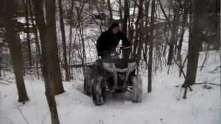 4. Polaris Hawkeye 350 up sketchy hill