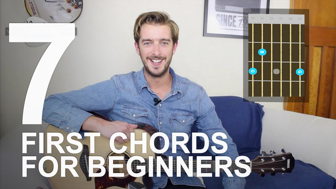 First 7 Chords Beginners Should Learn – Beginner Guitar Lesson