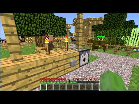 My Minecraft zoo tour with Mo creatures mod!