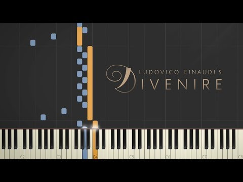 Ludovico Einaudi - Divenire \\ Synthesia Piano Tutorial