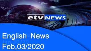 English News Feb,03/2020 |etv