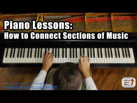 How to Connect Sections of Music