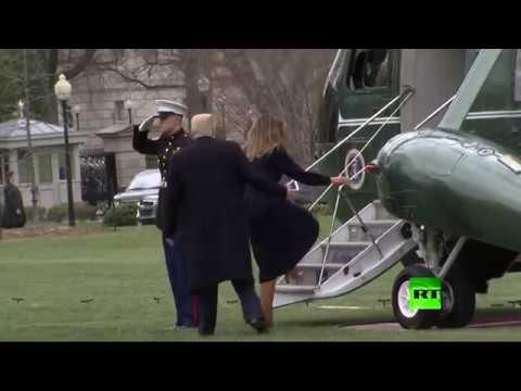 العرب اليوم - شاهد: كيف أنقذ دونالد ترامب زوجته ميلانيا