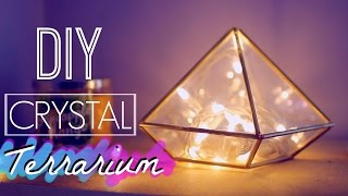 DIY Room Decor: Easy Crystal Terrarium | Tumblr and Urban Outfitters Inspired - YouTube