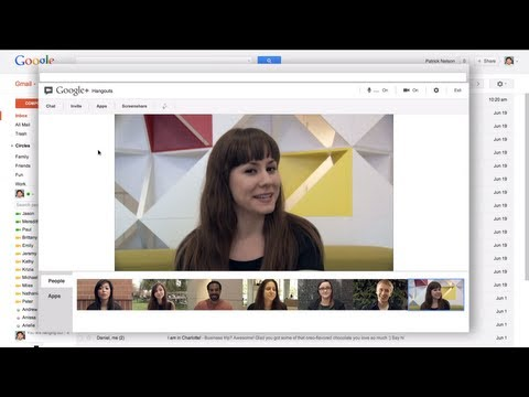 Image of Google+ Hangouts in Gmail - Chat Face-To-Face-To-Face in Gmail (Google+ Hangouts Video Chat In Gmail)