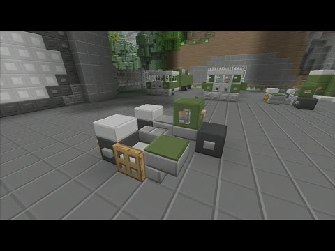 SPANKLECHANK'S Minecraft Tutorials: How to make a Military Motorcycle with Sidecar