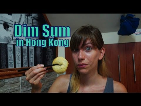 Eating lunch at Dim Sum Square in Hong Kong, China