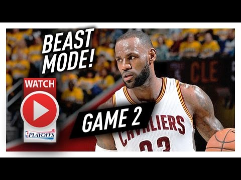 LeBron James Game 2 ECSF Highlights vs Raptors 2017 Playoffs - 39 Pts, 6 Reb, SO GOOD!
