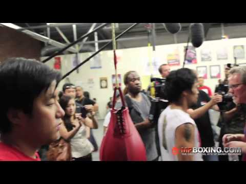 0 Video of Pacquiaos Last Day of Training