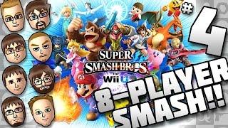 Smash 4: 8 Player Smash Gameplay featuring New Stages 1080p60fps
