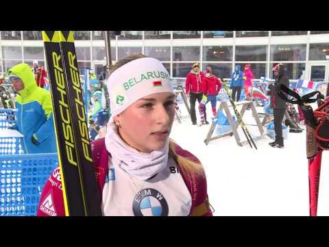 Кристина Ильченко после женского спринта на 5-м этапе Кубка мира по биатлону в Рупольдинге