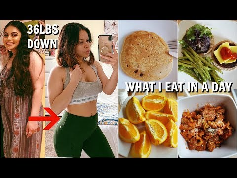 WHAT I EAT IN A DAY TO LOSE WEIGHT: HOW I LOST 36LBS! | JuicyJas