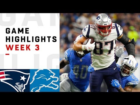Patriots vs. Lions Week 3 Highlights | NFL 2018 (видео)