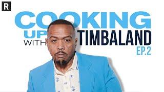 Timbaland & Idris Elba hit the studio & make music magic | Cooking Up w/ Timbaland