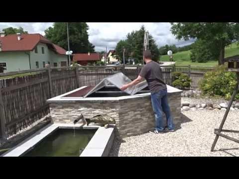Abdeckung Hochteich - Klappdach selbst gebaut - DIY