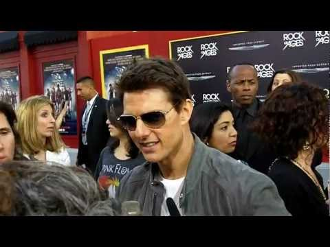 Rock Of Ages Hollywood Movie Premiere: Tom Cruise Interview 1