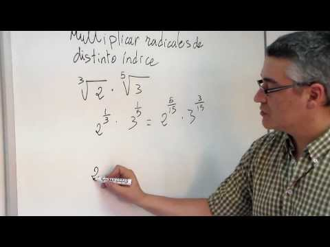 raíces con diferentes índices - En este vídeo aprenderemos a multiplicar radicales con distinto índice. Sígueme en facebook https://www.facebook.com/people/Don-Pedro-Fisicomolon/10000614901...