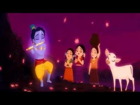 Video Krishna plays Flute in Vrndavana while Radha is dancing download in MP3, 3GP, MP4, WEBM, AVI, FLV January 2017