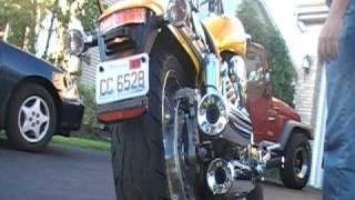 8. 2007 VTX 1800 F Stock Exhaust