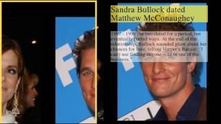 be creativo  Subscribe today and give the gift of knowledge to yourself or a friend Sandra Bullock Dating History1 : Sandra Bullock Dating History2 : Sandra Bullock was married to Jesse James3 : Sandra Bullock dated Ryan Gosling4 : Sandra Bullock dated Matthew McConaughey5 : Sandra Bullock was engaged to Tate Donovan