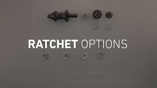 Easy explanation in disassembling and assembling a DT Swiss hub with the four Ratchet Options and their characteristics.