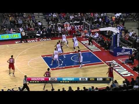 [10.31.12] Carlos Delfino - 15 points vs Pistons (Rockets Debut) (Full Highlights)