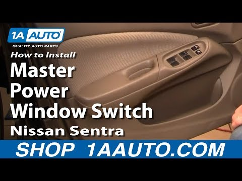How To Install Replace Drivers Master Power Window Switch Nissan Sentra 04-06 1AAuto.com