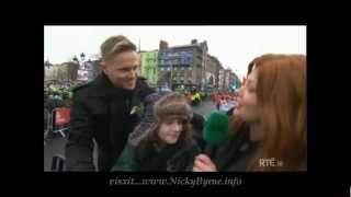 Nicky Byrne as Grand Marshall at Dublins St Paricks Day Parade