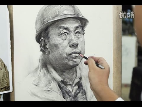 Time-lapse Portrait Drawing Demonstration