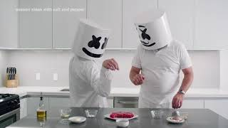 Video Cooking with Marshmello: How to Make a Steak (Father's Day Edition) MP3, 3GP, MP4, WEBM, AVI, FLV Oktober 2018