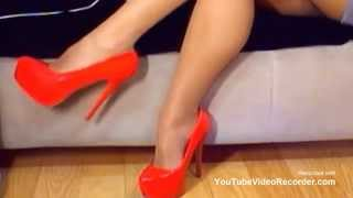 Sexy High Heels Dangling | Amazing Red Stilettos