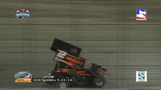 Knoxville Raceway 410 Highlights May 21, 2016