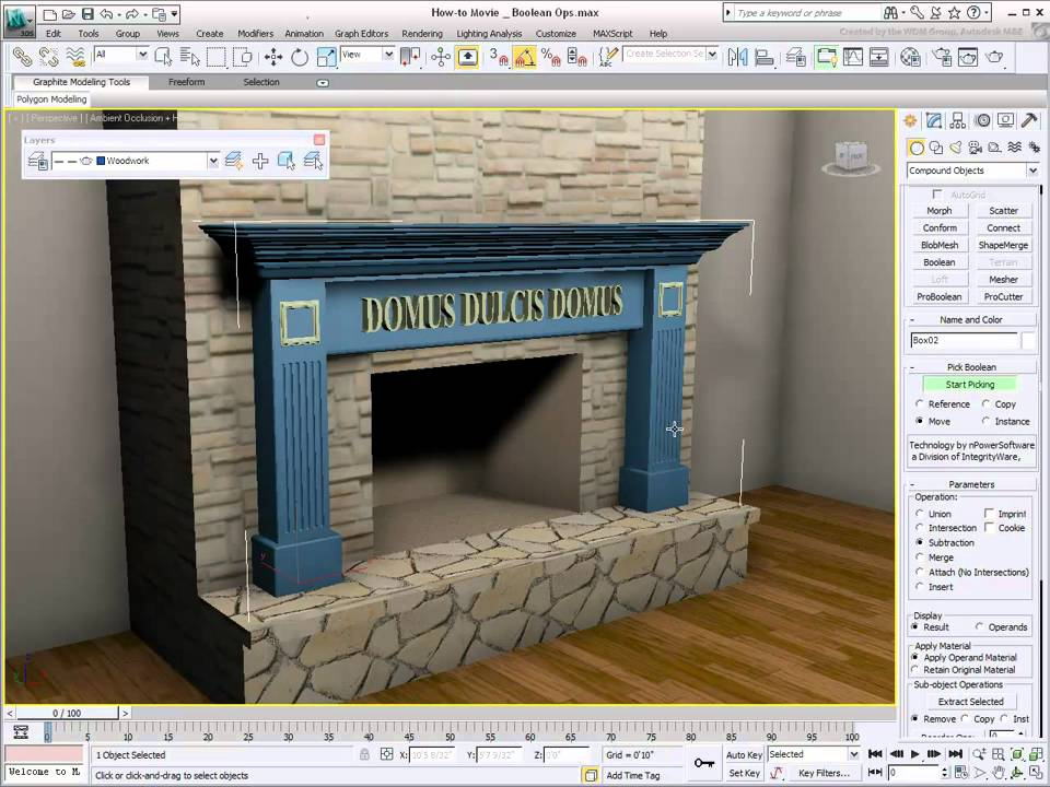 video/using boolean operations modeling 3ds max tutorial